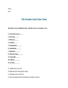 Geography of the U.S. test