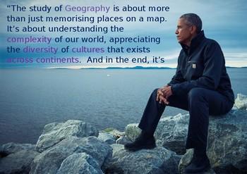 Geography poster - Barack Obama
