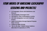 Geography's Greatest Hits! Four Weeks of Amazing Geography