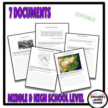 Geography's Influence on History (DBQ)- WITH ANSWER SHEET & RUBRIC