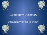 Geography term power point presentation with definitions and pictures