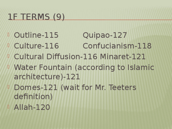 Geography vocab terms (geography content statement 8)