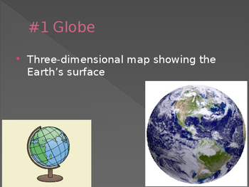 Geography vocabulary terms (Geography:content statement 3)