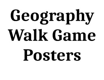 Geography walk activity and posters
