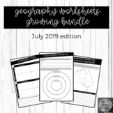 Geography worksheets ***Growing bundle***