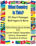 What Country? Geography, History, Economics Readings CCSS 6-8