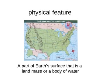 Geograpy Vocabulary:  Physical Features
