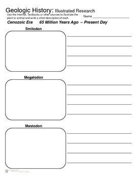 Geologic History - Research and Illustration Activity - Ipad Center