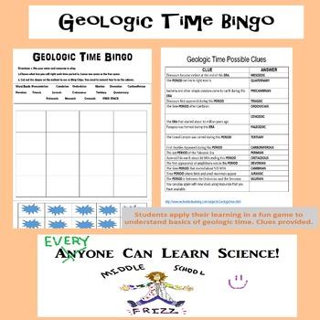 Geologic Time BINGO Game