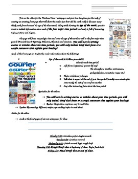 Geologic Time (Earth History) Newspaper Project