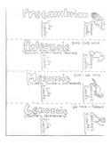Geologic Time Eras Doodle Notes