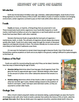 Geologic Time / History of Life on Earth