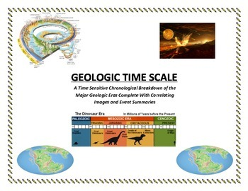 COLORFUL Geologic Time Lab: GO BACK IN TIME!  (Fun and Pop