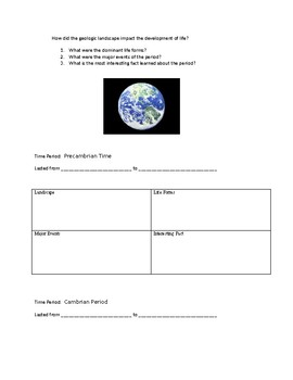 Geologic Time Lapbook