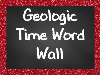 Geologic Time Past Word Wall