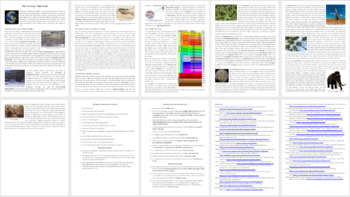 Geologic Time Reading Comprehension Article - Grade 8 and Up
