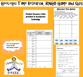 Geologic Time Research, BINGO Game and Quiz