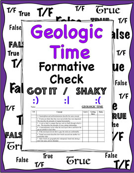 Geologic Time Review- Midnight Star