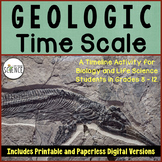 Geologic Time Scale Activity   Printable and Digital Distance Learning