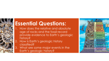 Geologic Time Scale Complete 5E Lesson Plan