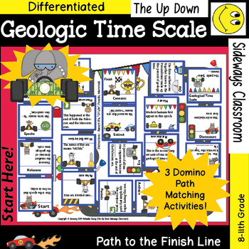 Geologic Time Scale- Domino Path Matching Review Activity- Path to Finish Line