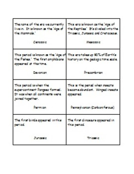 Geologic Time Scale Game