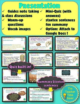 Geologic Time Scale Lesson (notes, presentation, and activity)