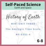 Geologic Time Scale Middle School History of Earth NGSS MS ESS1-4