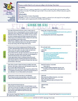 Geologic Time Scale - STEM Lesson Plan With Journal page