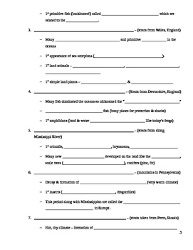 Geologic Time Scale Student Notes