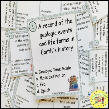 Geologic Time Scale Task Cards