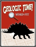 Geologic Time Vocabulary Review WordFit Puzzle; Earth Science