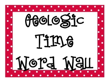 Geologic Time Word Wall