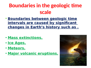 Geological Time Scale (  Four main divisions)