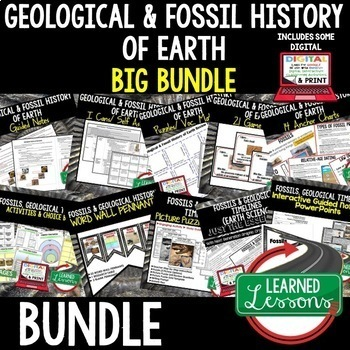 Earth Science Geological and Fossil History of the Earth (Earth Science BUNDLE)