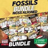 Fossils Bundle  (Earth Science BUNDLE), Print & Digital Distance Learning