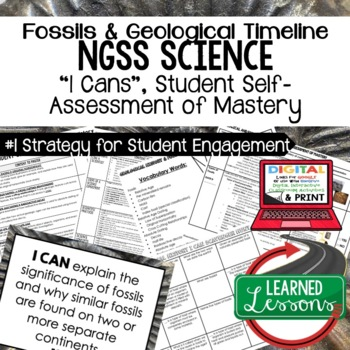 Earth Science Geological & Fossil History Earth Self Assessment Mastery I Cans