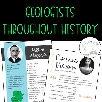 Geologists Throughout History: Reading and Writing Assignment