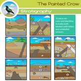 Geology Clip Art - Stratigraphy - Rock Layers - 32 Piece S