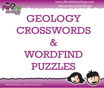 Geology Crossword and Wordfind Puzzles