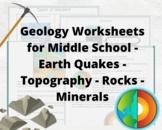 Earth Science Worksheets: Geology BUNDLE