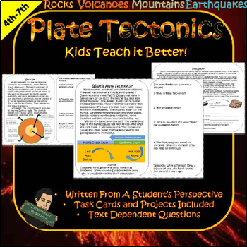 Geology Unit with Task Cards- Plate Tectonics