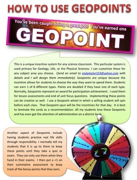 """Geology: Incentive System """"Geopoints"""""""