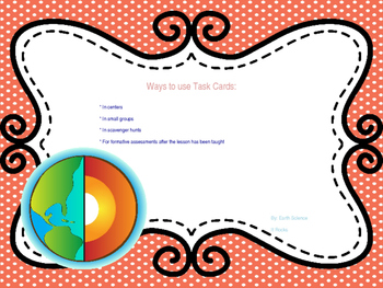 Geology - Inside the Earth Task Cards