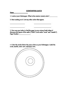 Geology: Layers of the Earth Gobstopper Candy Activity