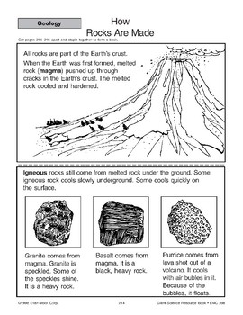 Geology: Layers of the Earth, Rocks, and a Volcano
