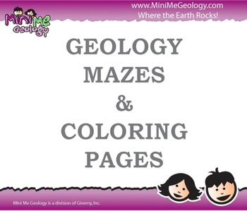 Geology Mazes and Coloring Pages