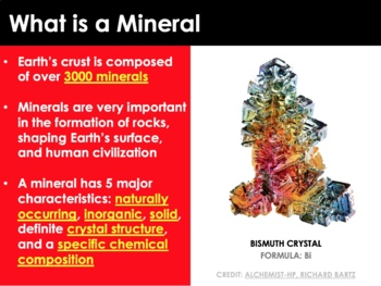 Geology - Minerals, Rocks and the Rock Cycle