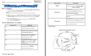 Geology Notes Bundle