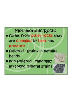 Geology Notes Middle School